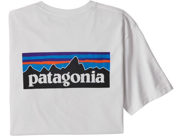 Patagonia P-6 Logo Pocket Responsibili-Tee Men, white